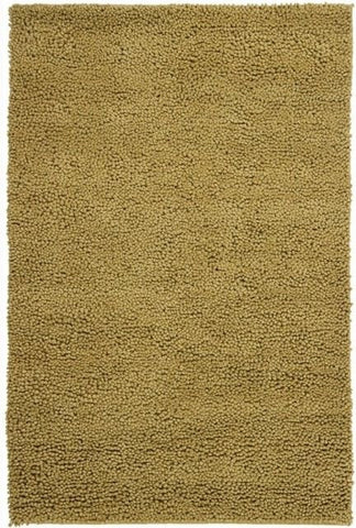 Modern Wool Shag Rug in Mustard Yellow - Yarn and Loom Rugs