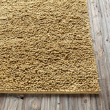 Modern Wool Shag Rug in Mustard - Yarn and Loom Rugs