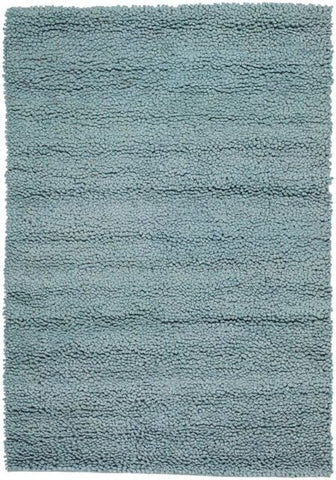 Modern Wool Shag Rug in Blue - Yarn and Loom Rugs