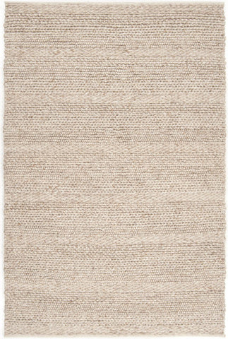 Chunky Cabin Textured Rug in Beige - Yarn and Loom Rugs