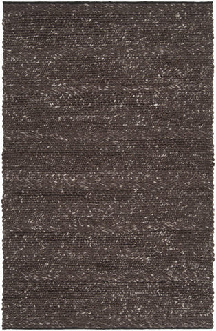 Chunky Cabin Textured Rug in Chocolate Brown - Yarn and Loom Rugs