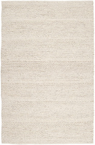 Chunky Cabin Textured Rug in Ivory - Yarn and Loom Rugs