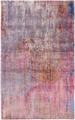 Hand Knotted Watercolour Rug in Eggplant and Violet - Yarn and Loom Rugs