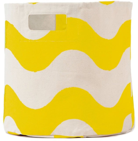 Pehr Designs Wave Storage Container in Yellow - Yarn and Loom Rugs