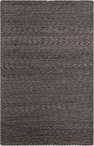 Aspen Chunky Braided Rug in Grey - Yarn and Loom Rugs