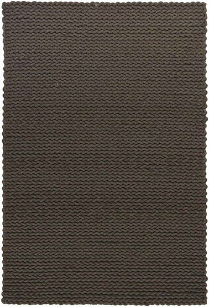 Aspen Chunky Braided Rug in Chocolate Brown - Yarn and Loom Rugs