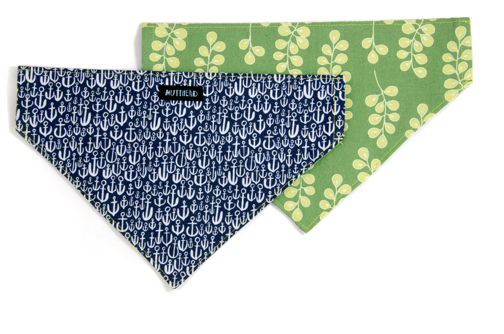 Reversible Bandana in Hudson and Lolly