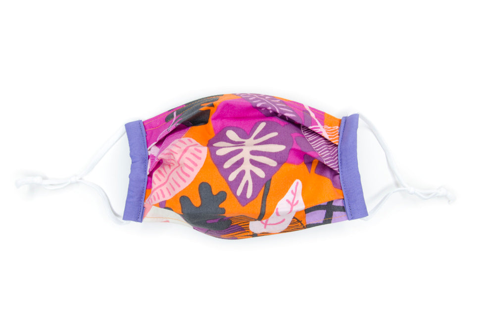 Fabric mask in Banya (orange)