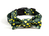 Dog collar and bow tie set: Kate, a green and yellow floral