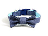 Dog collar and bow tie set in Lefty