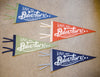 Hand Screen-Printed Wool Pennant: Have an Adventure, Let's Pee Outside
