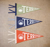 Hand Screen-Printed Wool Pennant: Mark Your Territory