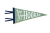 Hand Screen-Printed Wool Pennant: Yip, Yip, Hooray!