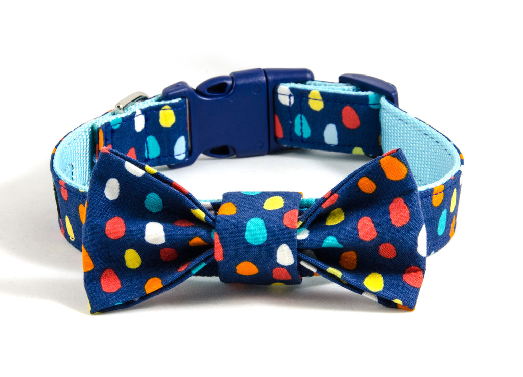 Dog collar and bow tie set: Styx MacGee