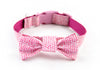 Dog collar and bow tie set: Valentino