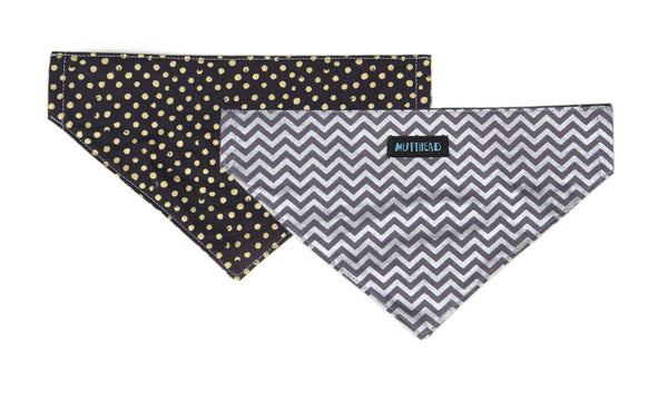 Reversible Bandana in Zeus (grey) and Miss Otis
