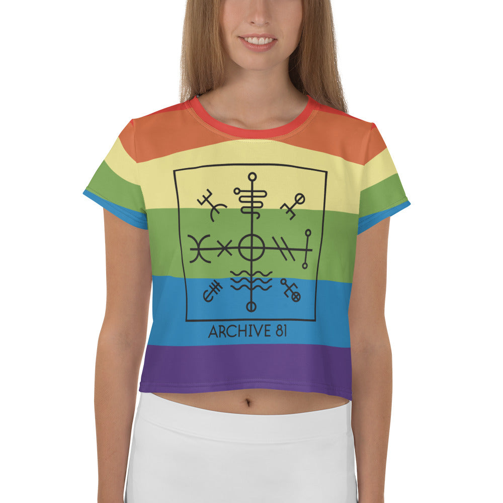 Crop Tee - Archive 81 Season 3 Pride Logo