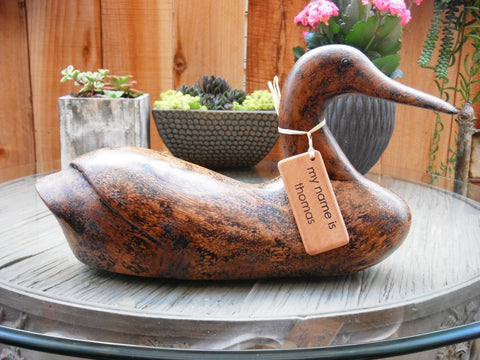 Americana Vintage Hand-Carved Wood Duck