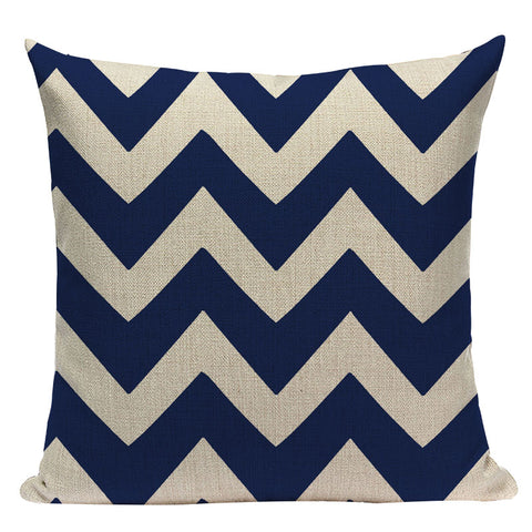 "Blue Marine Decorative Throw Pillow Covers, 18"" Square (45cm*45cm) & 12""x20"" Lumbar - Beach Rustic Artisan Country Decor"