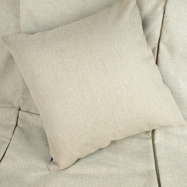 "Blue & White Throw Pillow Cover Collection, 18"" Square (45cm*45cm) - Beach Rustic Artisan Country Decor"