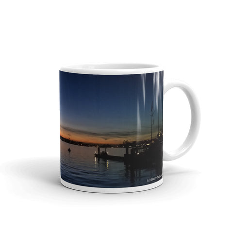 Newport Beach Coffee Mug #3 by Beach Rustic - Beach Rustic Artisan Country Decor