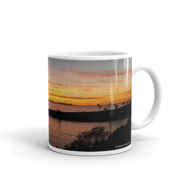 Newport Beach Coffee Mug #9 by Beach Rustic - Beach Rustic Artisan Country Decor