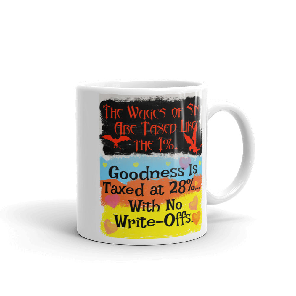The Wages of Sin Are Taxed Like the 1%  Coffee Mug - Beach Rustic