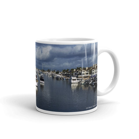 After the Storm from the Balboa Island Yacht Basin Coffee Mug by Beach Rustic - Beach Rustic Artisan Country Decor