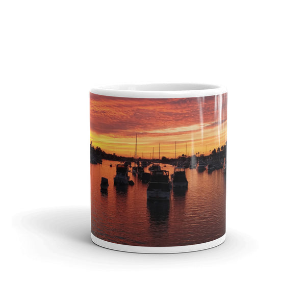 Newport Beach Coffee Mug #1 by Beach Rustic - Beach Rustic Artisan Country Decor
