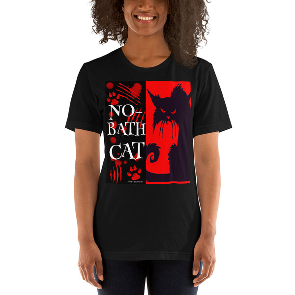 No-Bath Cat Unisex T-Shirt - Beach Rustic