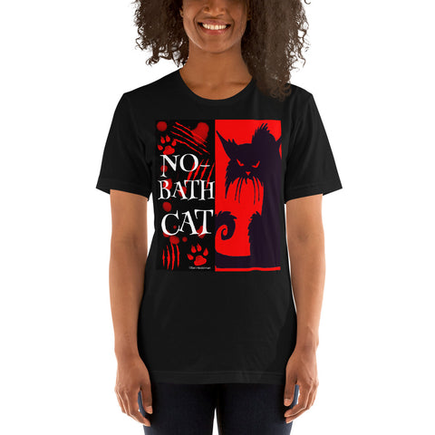 No-Bath Cat Unisex T-Shirt - Beach Rustic Artisan Country Decor
