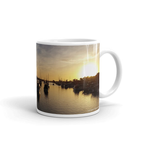 Colorful Balboa Island Yacht Basin Coffee Mug by Beach Rustic - Beach Rustic Artisan Country Decor