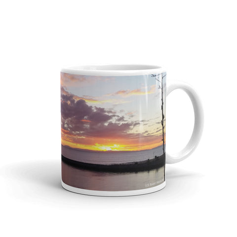 Newport Beach Coffee Mug #5 by Beach Rustic - Beach Rustic Artisan Country Decor