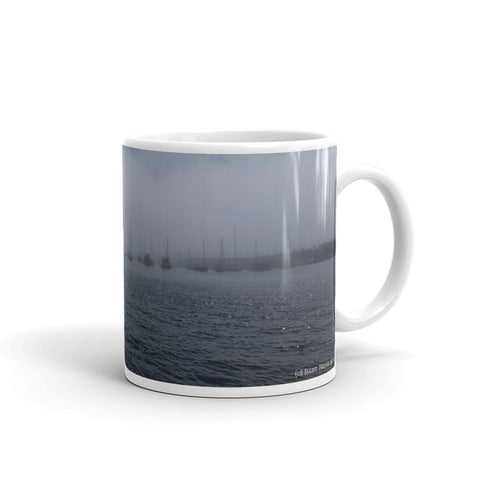 Newport Beach Coffee Mug #2 by Beach Rustic - Beach Rustic Artisan Country Decor