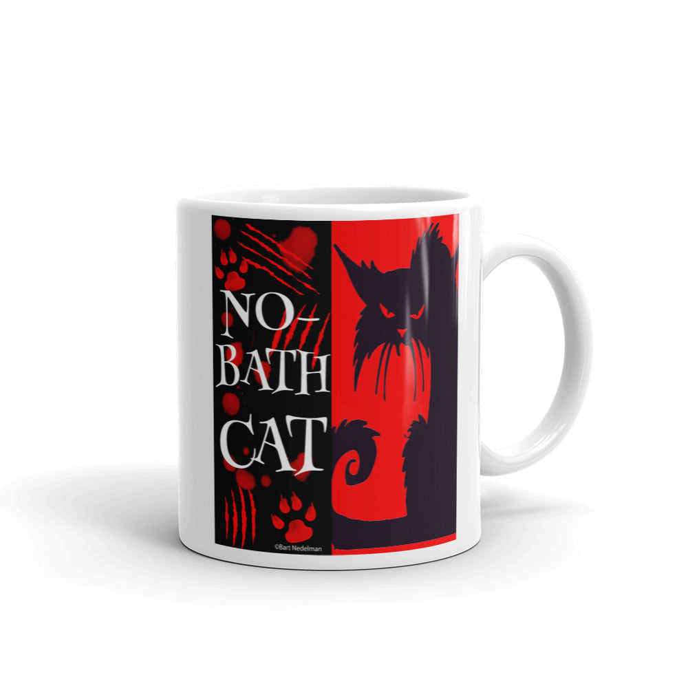 Cat Won't Take a Bath Coffee Mug - Beach Rustic Artisan Country Decor