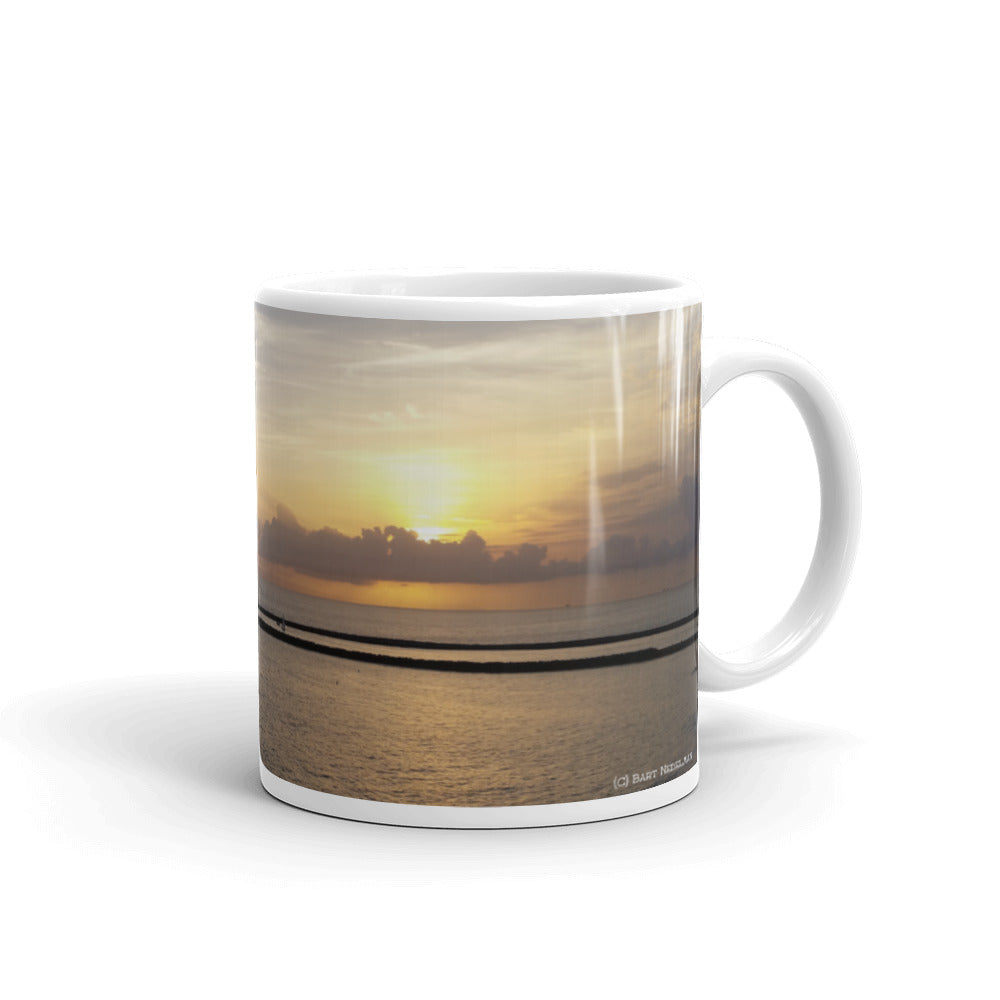Newport Beach Coffee Mug #4 by Beach Rustic - Beach Rustic Artisan Country Decor