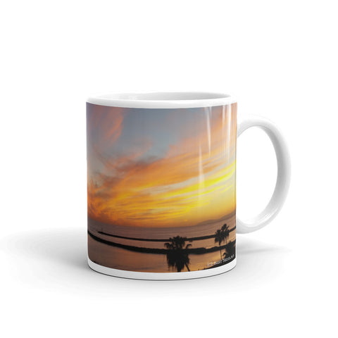 Newport Beach Coffee Mug #8 by Beach Rustic - Beach Rustic Artisan Country Decor
