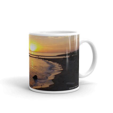 Newport Beach Coffee Mug #6 by Beach Rustic - Beach Rustic Artisan Country Decor