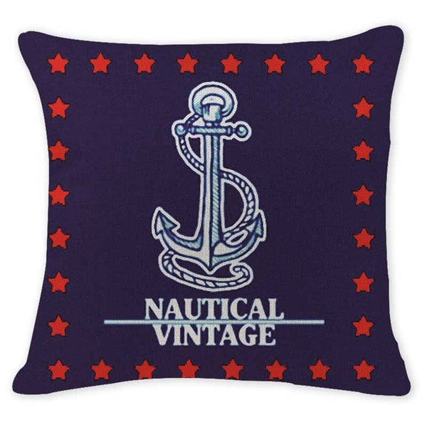 "Nautical Throw Pillow Covers, 18"" Square (45cm*45cm) - Beach Rustic Artisan Country Decor"