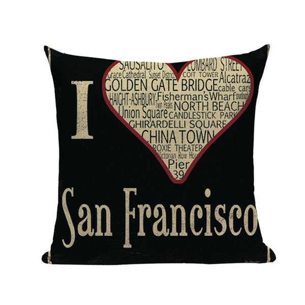 "European Style Black Elegant Letter Cushion Covers, 18"" Square (45cm*45cm) - Beach Rustic Artisan Country Decor"