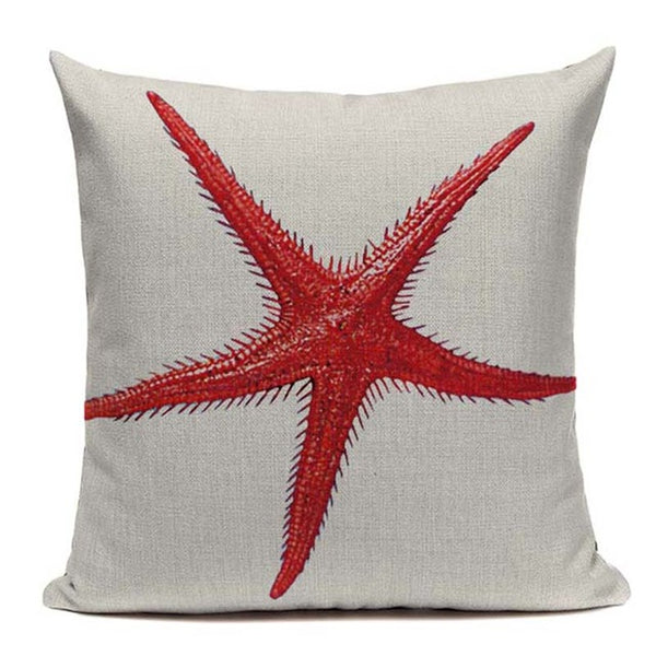 Decorative Retro Marine Throw Pillow Covers by Beach Rustic, 18 Inches Square - Beach Rustic Artisan Country Decor