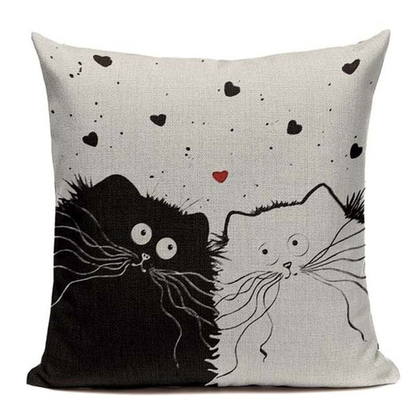"Cute Cats Being Cats Decorative Throw Pillow Covers, 18"" Square (45cm*45cm) - Beach Rustic Artisan Country Decor"