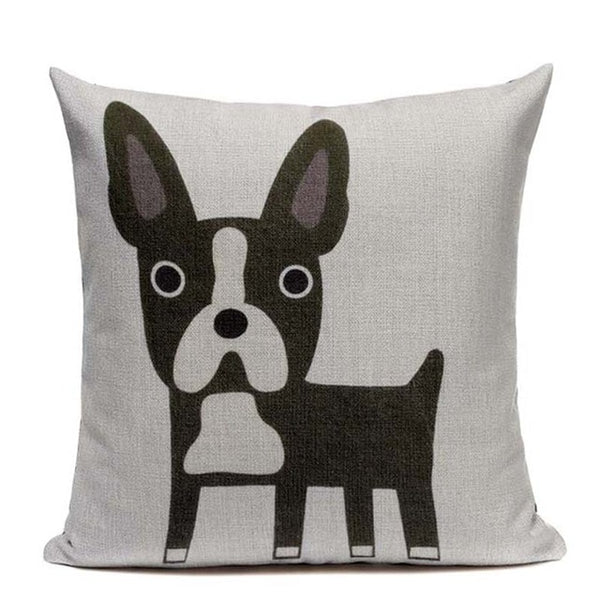 "Cute French Bulldog Throw Pillow Covers, 18"" Square (45cm*45cm) - Beach Rustic Artisan Country Decor"