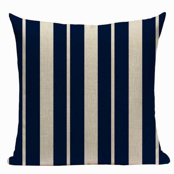 "Bold Vintage Nautical Throw Pillow Cushion  Covers,  18"" Square (45cm*45cm) - Beach Rustic Artisan Country Decor"