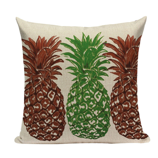 "Pineapple Throw Pillow Covers, 18"" Square (45cm*45cm) - Beach Rustic Artisan Country Decor"