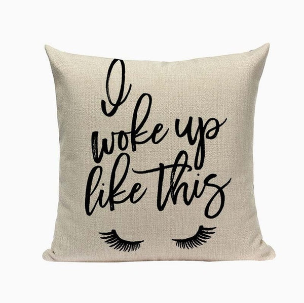 "Fun Fashion Eyelashs & Eyes Throw Pillow Covers, 18"" Square (45cm*45cm) - Beach Rustic Artisan Country Decor"