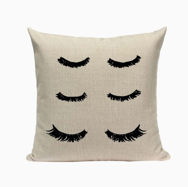 "Eyelash Throw Pillow Covers, 18"" Square (45cm*45cm) - Beach Rustic Artisan Country Decor"