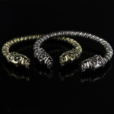 Two Headed Wolf Fenrir Viking Bracelet