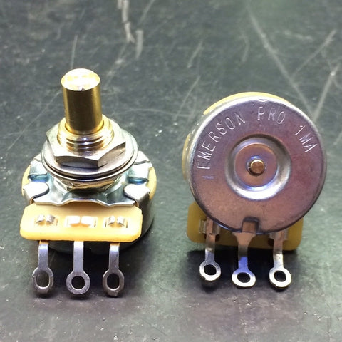 "EMERSON PRO CTS - 1 MEG SHORT (3/8"") SOLID SHAFT POTENTIOMETER"