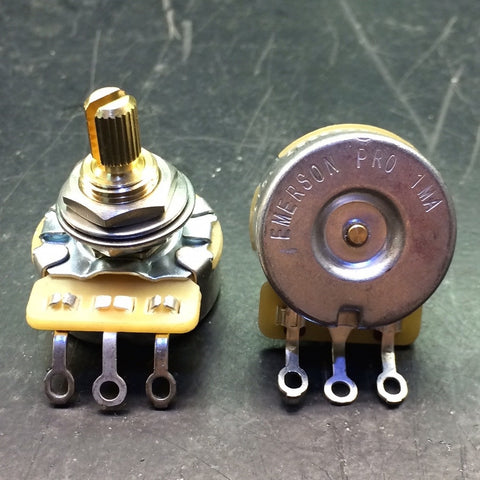 "EMERSON PRO CTS - 1 MEG SHORT (3/8"") SPLIT SHAFT POTENTIOMETER"